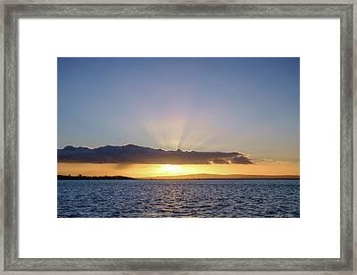 Sunset At Lough Derg Framed Print