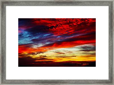 Sunset At Louie's Framed Print
