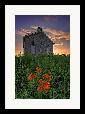 One Room School Houses Framed Prints