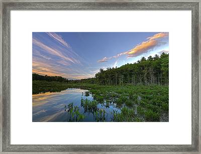 Framed Print featuring the photograph Sunset At Mass Audubon's Broadmoor Wildlife Sanctuary by Juergen Roth
