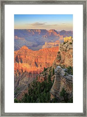 Sunset At Mather Point Framed Print