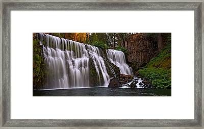 Sunset At Middle Falls Framed Print