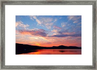 Sunset At Ministers Island Framed Print