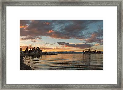 Sunset At Mono Lake Framed Print