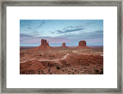 Framed Print featuring the photograph Sunset At Monument Valley No.1 by Margaret Pitcher