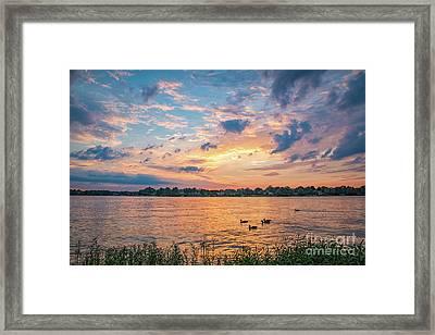 Sunset At Morse Lake Framed Print
