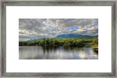 Sunset At Mt. Katahdin Framed Print by Lori Deiter