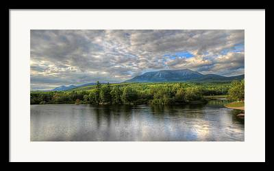 Mt. Katahdin Framed Prints