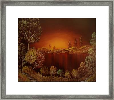 Sunset At Nainital Framed Print by Dipali Deshpande