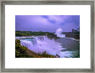 Sunset At Niagara Framed Print