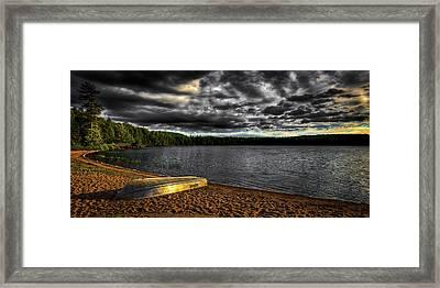 Sunset At Nicks Lake Framed Print by David Patterson