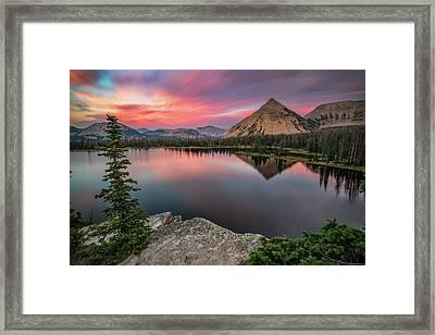 Sunset At Notch Lake Framed Print