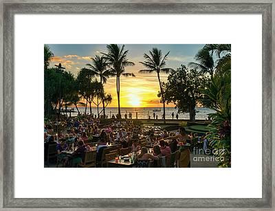 Sunset At Old Lahaina Luau #1 Framed Print