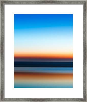 Sunset At Ottawa Lake Framed Print