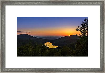 Sunset At Owls Head Framed Print by Tim Kirchoff