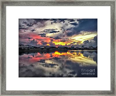 Sunset At Oyster Lake Framed Print