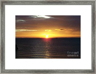 Sunset At Pacific Shores Framed Print by Dindin Coscolluela