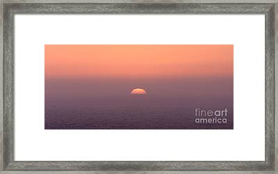 Sunset At Pacifica Framed Print