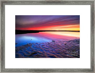 Sunset At Paines Creek Cape Cod Framed Print by Matt Suess