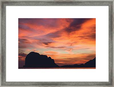 Sunset At Pak Meng Beach Trang Province Thailand Framed Print