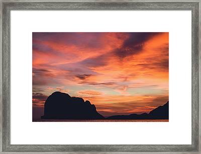 Sunset At Pak Meng Beach Trang Province Thailand Framed Print