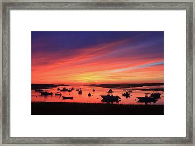 Sunset At Pamet Harbor Cape Cod Framed Print by John Burk