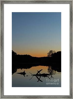Sunset At Paulinskill Lake Framed Print by Nicki McManus