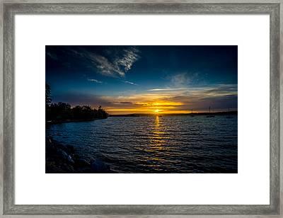 Sunset At Penn Cove Framed Print