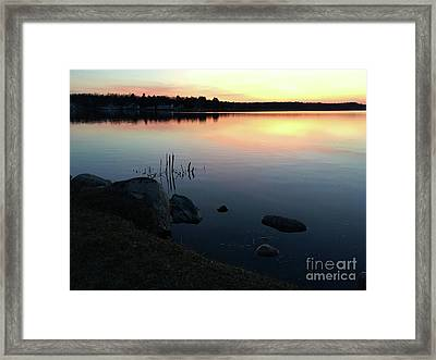 Sunset At Pentwater Lake Framed Print