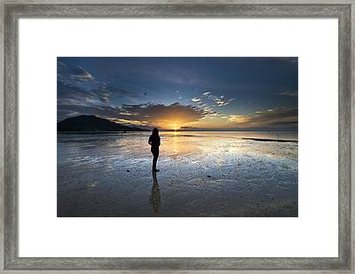Sunset At Phuket Island Framed Print by Ng Hock How