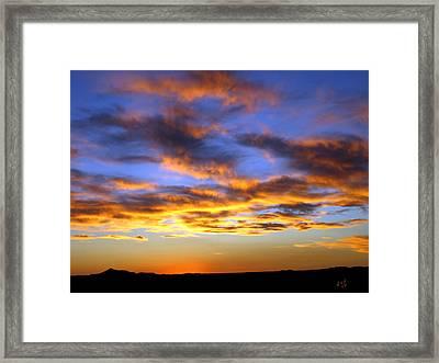 Sunset At Picacho Peak Framed Print by Kurt Van Wagner