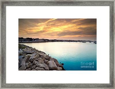 Sunset At Plymouth Harbor Framed Print by Matt Suess