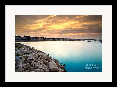 Plymouth Harbor Framed Prints