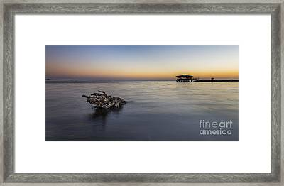 Sunset At Port St. Joe Framed Print by Twenty Two North Photography