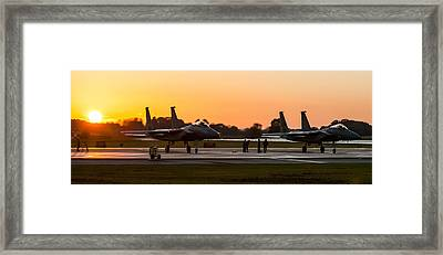 Sunset At Raf Lakenheath Framed Print by Tim Beach