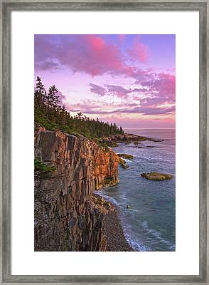 Framed Print featuring the photograph Sunset At Ravens Nest by Juergen Roth