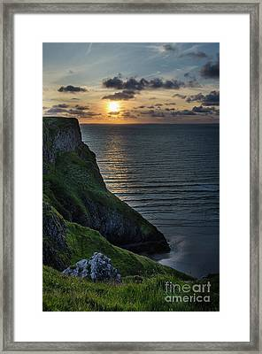 Sunset At Rhossili Bay Framed Print