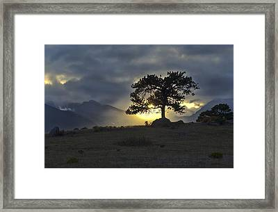 Sunset At Rocky Mountain Park Co Framed Print by James Steele