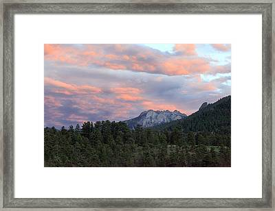 Sunset At Rocky Mountain Park.co Framed Print by James Steele