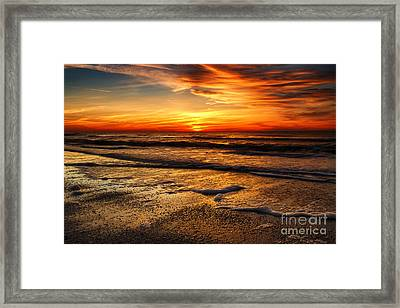 Sunset At Saint Petersburg Beach Framed Print by Eyzen M Kim