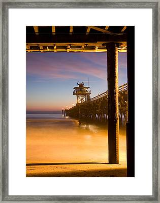 Sunset At San Clemente Framed Print by Cliff Wassmann