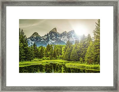 Sunset At Schwabacher Framed Print by Peter Irwindale