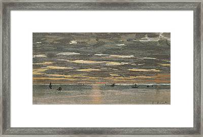 Sunset At Sea Framed Print by Claude Monet