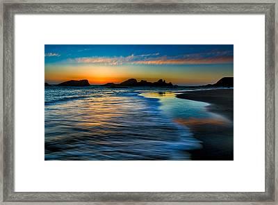 Sunset At Seal Rock Oregon Framed Print
