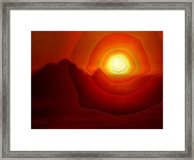 Sunset At Seal Rocks No. 3 Framed Print by Joe Bonita