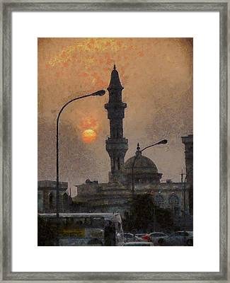 Sunset At Seeb Framed Print