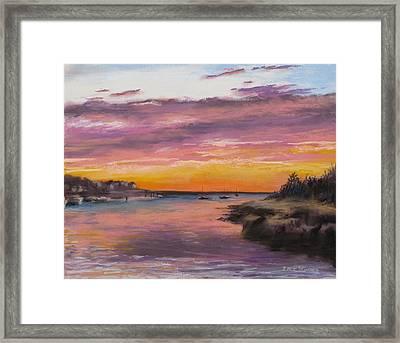 Sunset At Sesuit Harbor Framed Print