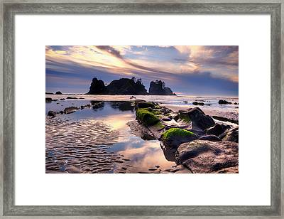 Sunset At Shi Shi Beach Framed Print by Alvin Kroon