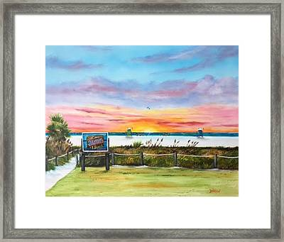 Sunset At Siesta Key Public Beach Framed Print