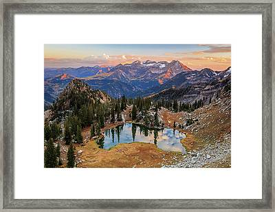 Sunset At Silver Glance Lake. Framed Print by Johnny Adolphson